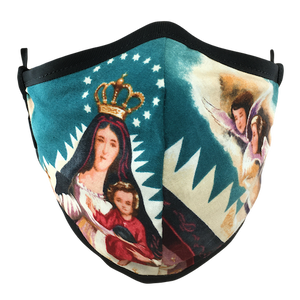Virgen De La Caridad Face Mask - Blue