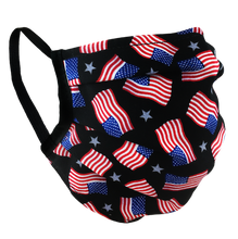 Load image into Gallery viewer, American Flags - Surgical Style Face Mask
