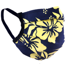 Load image into Gallery viewer, Hawaiian Flowers Yellow - Surgical Style Face Mask