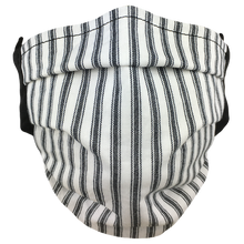 Load image into Gallery viewer, Black Stripes - Surgical Style Face Mask