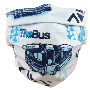 Hawaiian Bus - Surgical Style Face Mask
