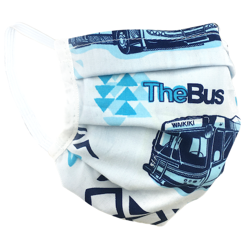 Hawaiian Bus - Washable & Reusable Surgical Style Face Masks