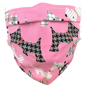 Pink Terriers - Surgical Style Face Masks