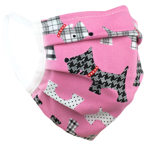 Pink Terriers - Washable & Reusable Surgical Style Face Masks
