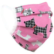 Load image into Gallery viewer, Pink Terriers - Surgical Style Face Masks