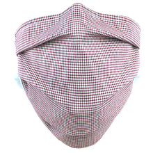Load image into Gallery viewer, Gingham Check Red - Surgical Style Face Mask