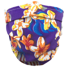 Load image into Gallery viewer, Hawaiian Flowers Purple - Surgical Style Face Mask