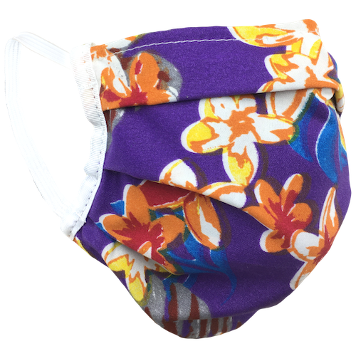 Hawaiian Purple - Washable & Reusable Surgical Style Face Masks