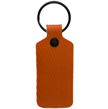 Load image into Gallery viewer, Orange TekTailor Key Chain made from upcycled fire hose
