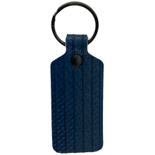 Load image into Gallery viewer, Blue TekTailor Key Chain made from upcycled fire hose