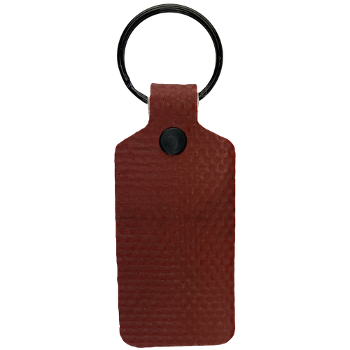 Red TekTailor Key Chain made from upcycled fire hose
