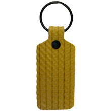 Load image into Gallery viewer, Yellow TekTailor Key Chain made from upcycled fire hose