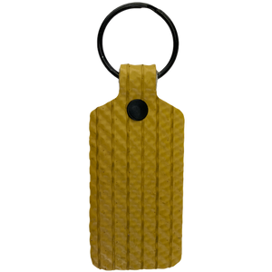 Yellow TekTailor Key Chain made from upcycled fire hose