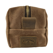 Load image into Gallery viewer, Waxed Canvas Dopp Kit Brown