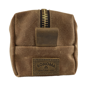 Waxed Canvas Dopp Kit Brown