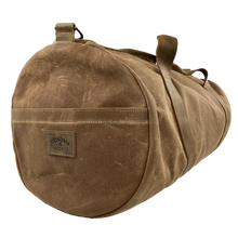 Load image into Gallery viewer, Waxed Canvas Duffle Bag Brown