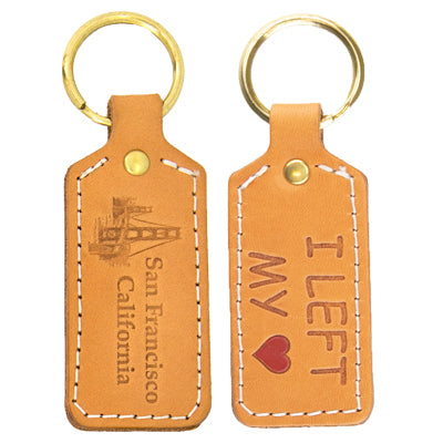 Doublesided Leather Key Chain