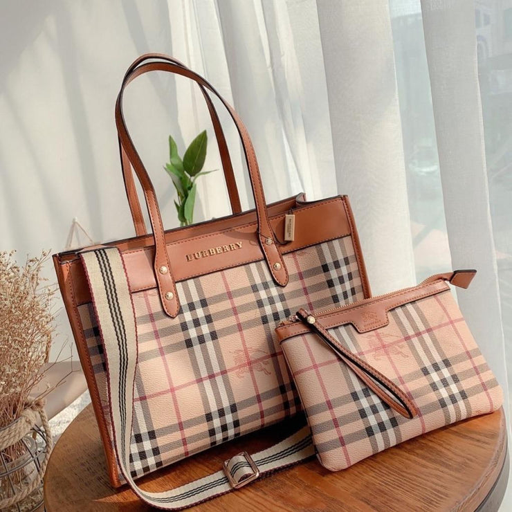 Vintage Check Two-handle Title Bag