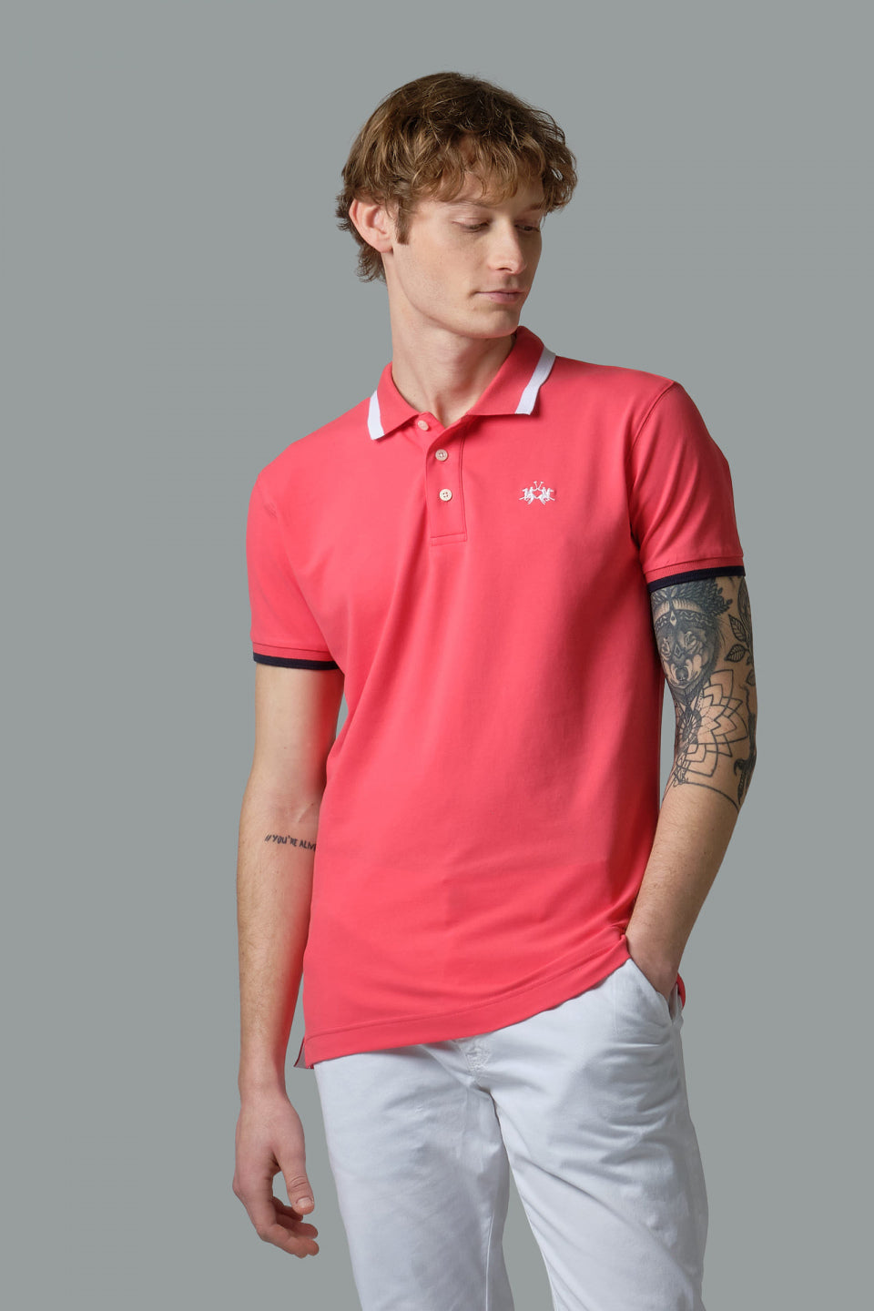 SLIM FIT STRETCH PIQUE POLO SHIRT