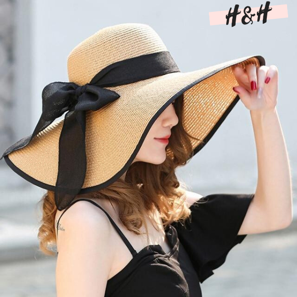 Harry and Hope DESIGN - Chapeau capeline nœud noir