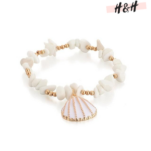 Harry and Hope DESIGN - Bracelet blanc et doré