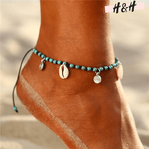 Harry and Hope DESIGN - Bijou de cheville turquoise