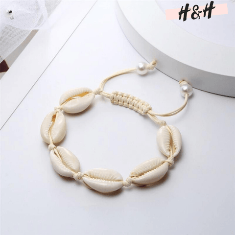 Harry and Hope DESIGN - Bracelet blanc à coquillages blancs