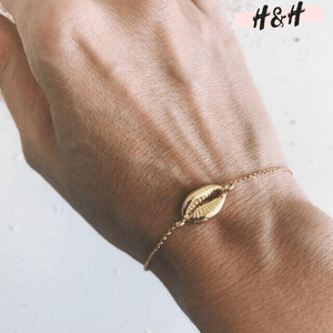 Harry ans Hope DESIGN - Bracelet coquillage doré