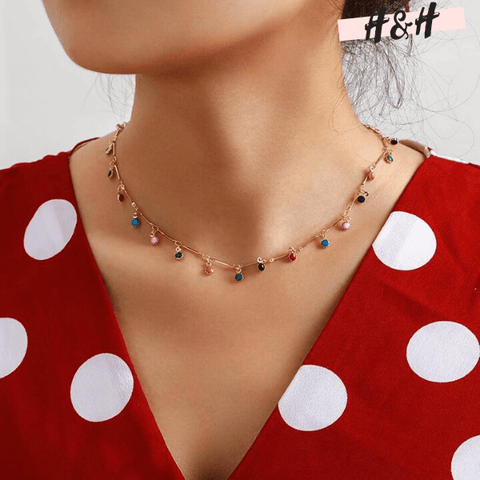 Harry and Hope DESIGN - Collier à pierres multicolores