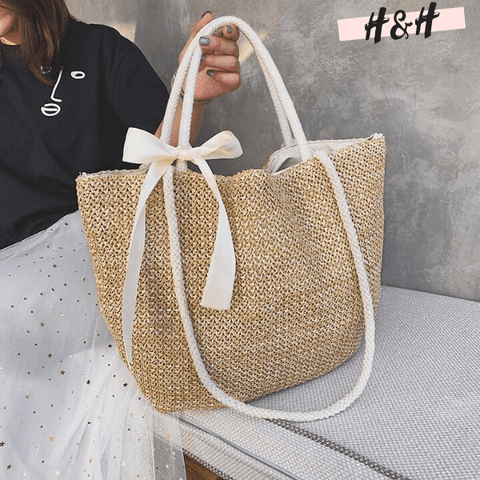 Harry and Hope DESIGN - Sac à main Nœud beige