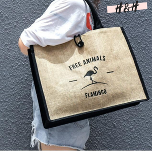 "Harry and Hope DESIGN - Cabas ""Free animals - Flamingo"""