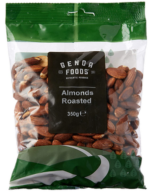 Genoa Foods Almonds Roasted 350G