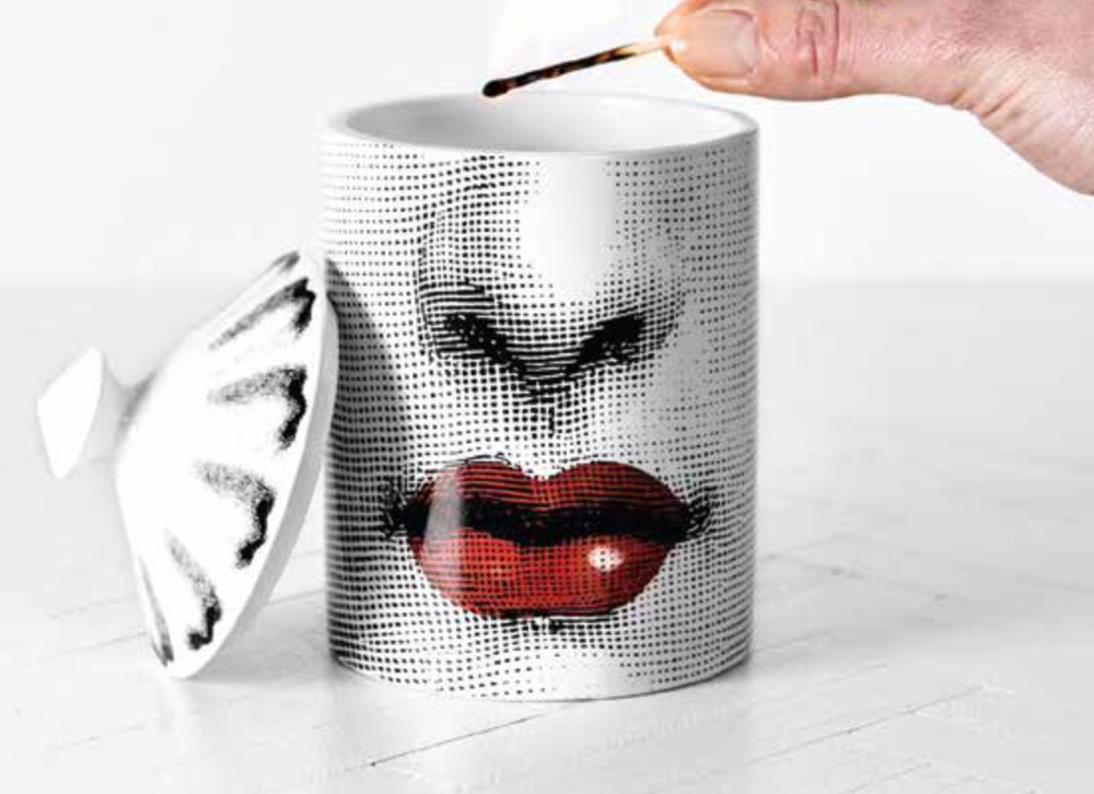 FORNASETTI SMALL BACIO CANDLE 10.5 OZ