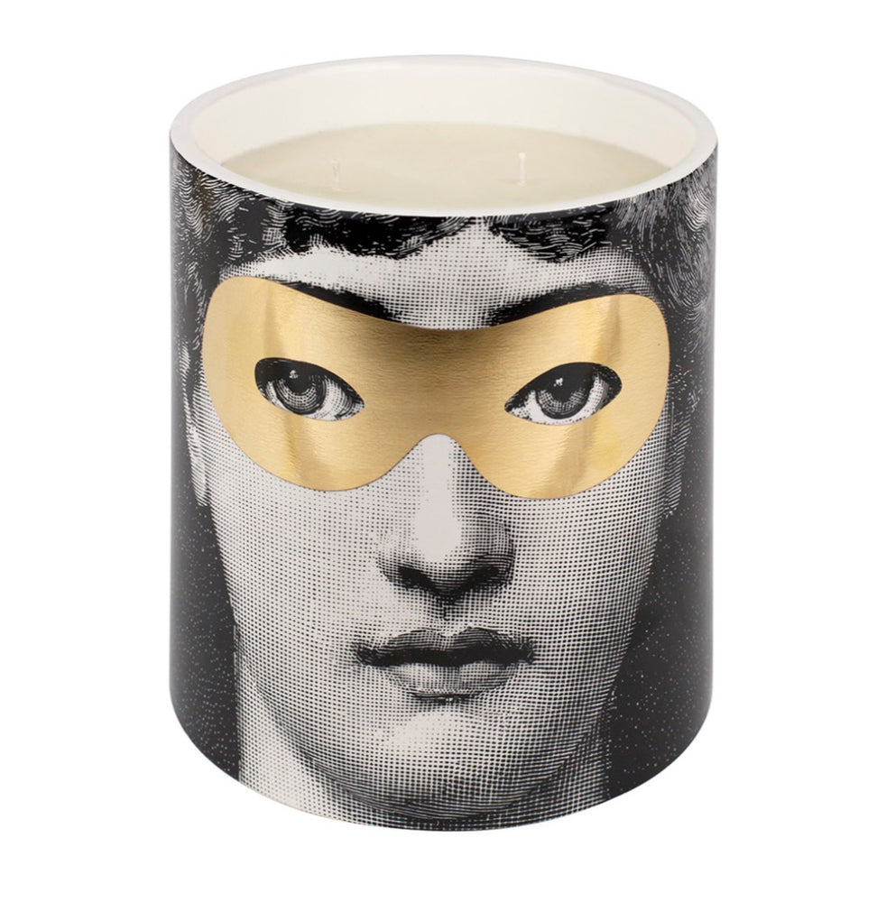 FORNASETTI LARGE GOLDEN BURLESQUE CANDLE 67 OZ