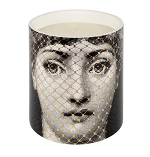 Load image into Gallery viewer, FORNASETTI MEDIUM GOLDEN BURLESQUE CANDLE 32 OZ