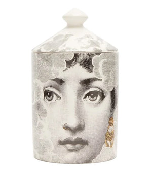 FORNASETTI SMALL NUVOLA GOLD CANDLE 10.5 OZ