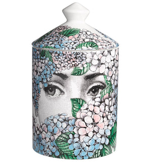 Load image into Gallery viewer, FORNASETTI SMALL ORTENSIA CANDLE 10.5 OZ