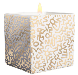 "KEITH HARING ""GOLD PATTERN"" 9 0Z"