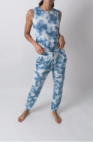 LEALLO MAX JOGGER PULL ON PANT IN TIE BLUE HEAVEN