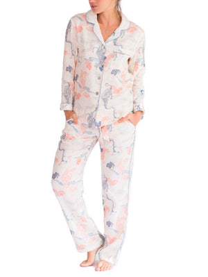 Load image into Gallery viewer, THE LAZY POET EMMA LINEN PEKING TIGER PAJAMA SET