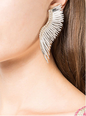 MIGNONNE GAVIGAN MADELINE EARRINGS ALL WHITE