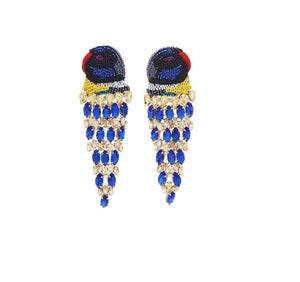 MIGNONNE GAVIGAN LUX PARROT EARRINGS