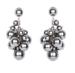 MIGNONNE GAVIGAN GREY PEARL DROP EARRINGS