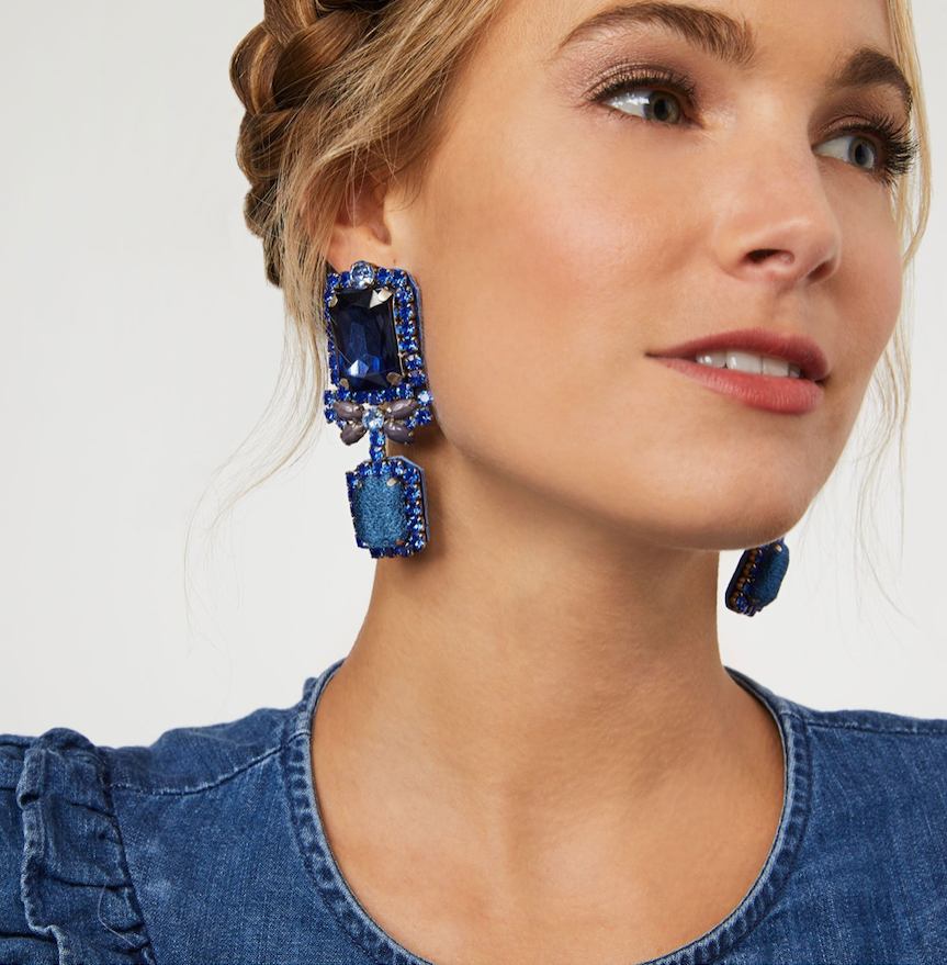 MIGNONNE GAVIGAN ISABELLA BLUE EARRINGS