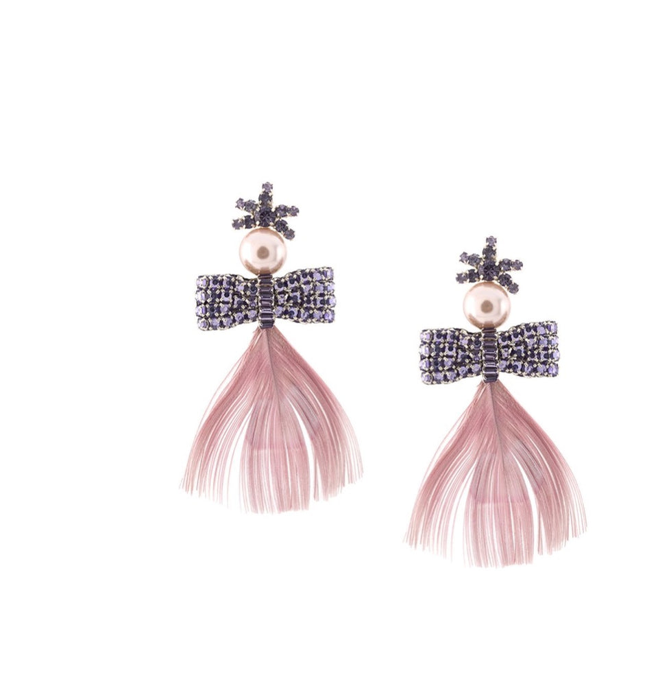 Load image into Gallery viewer, MIGNONNE GAVIGAN LUX PEACOCK BOW EARRINGS