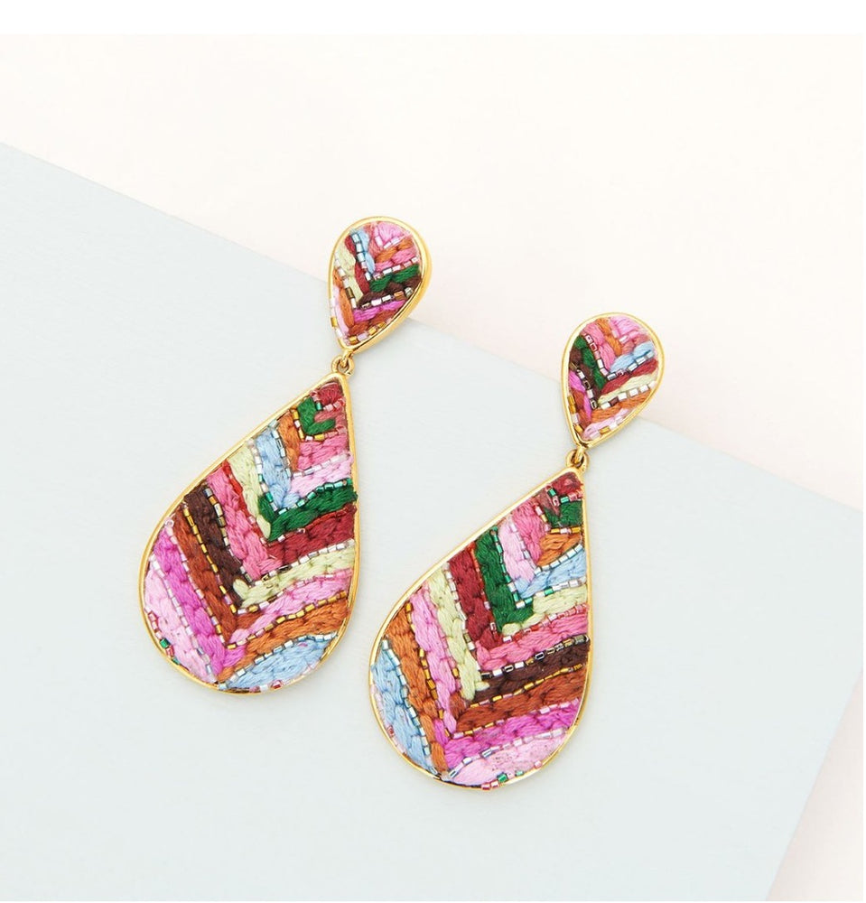 MIGNONNE GAVIGAN HAND BEADED SOPHIA EARRINGS