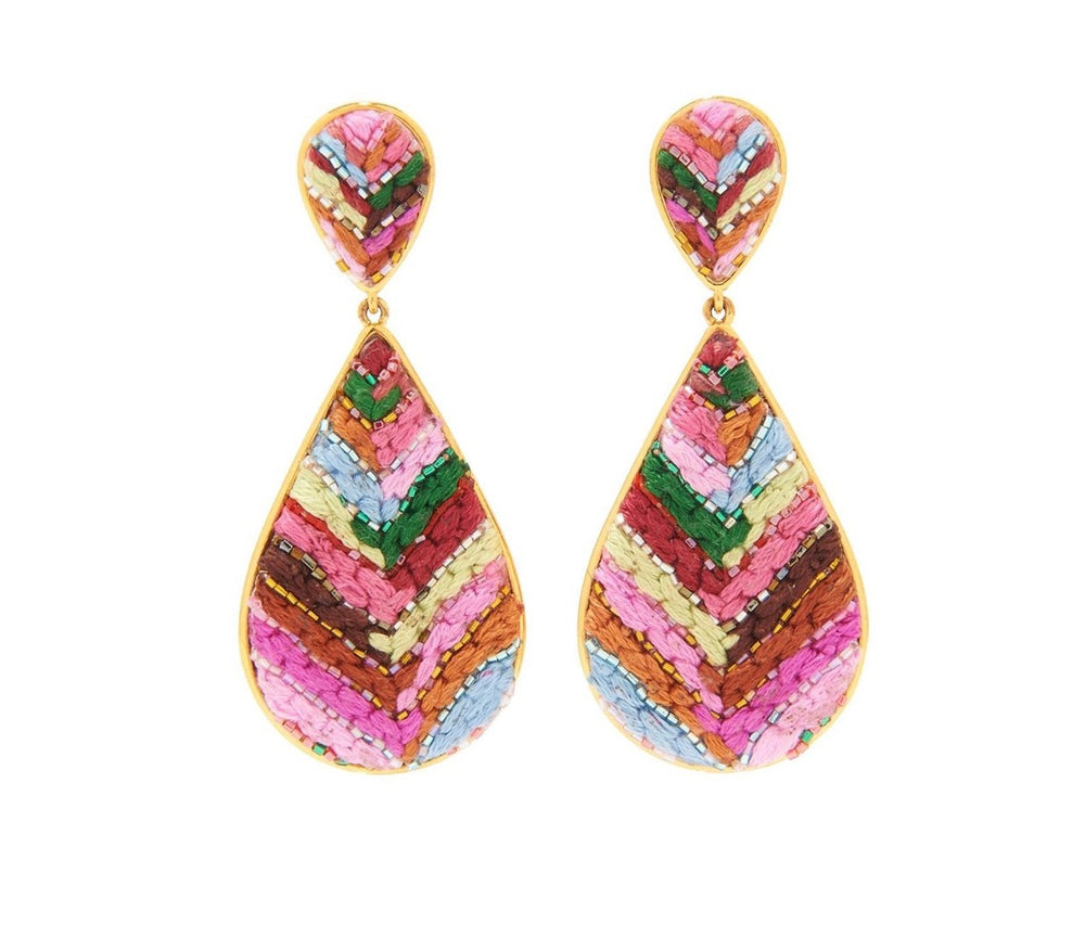 Load image into Gallery viewer, MIGNONNE GAVIGAN HAND BEADED SOPHIA EARRINGS