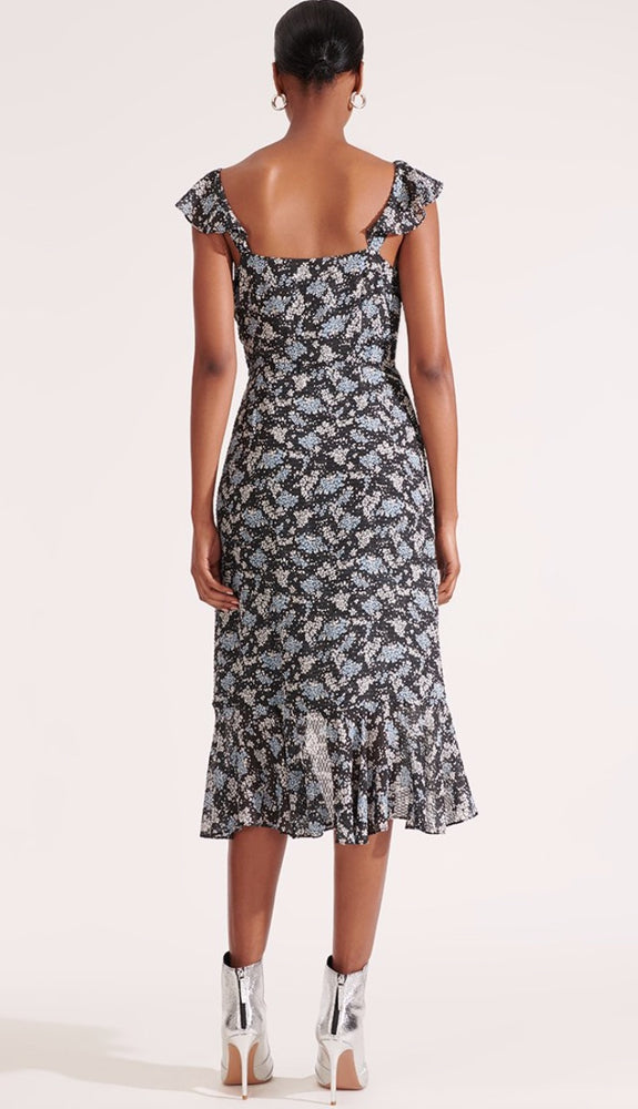 VERONICA BEARD AMAL FLORAL PRINTED DRESS