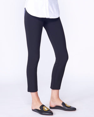 VERONICA BEARD CROPPED SCUBA LEGGING PANT IN BLACK