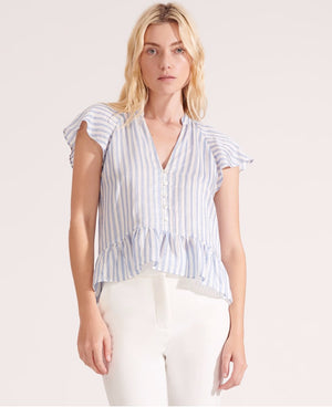 VERONICA BEARD MABLE  STRIPED TOP